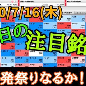 [株おすすめ]【JumpingPoint!!の10分株ニュース】2020年7月16日(木)