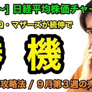 [株おすすめ][9/23〜]日経平均株価チャート分析:新興株に勝機