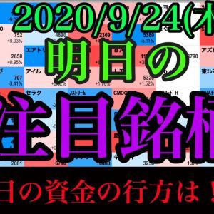[株おすすめ]【JumpingPoint!!の10分株ニュース】2020年9月24日(木)