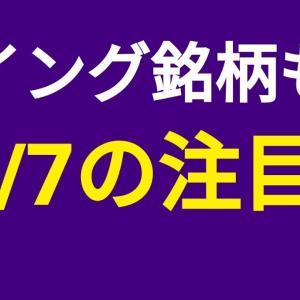 [株おすすめ]【12/7(月)の注目株】