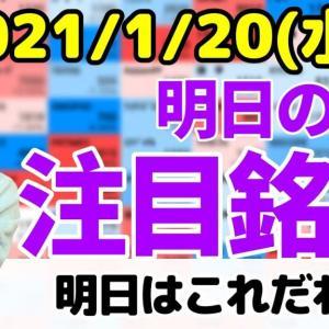 [株おすすめ]【10分株ニュース】2021年1月20日(水)