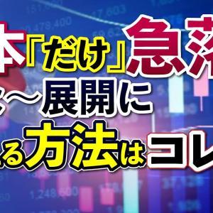 [投資おすすめ]日経平均急落。個人投資家は打つ手はある!日本だけ弱い理由はワクチン接種率か?