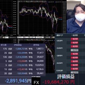 [FXおすすめ]爆損FXライブ配信、米株4000万買った。暴落したら死ぬ