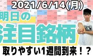 [株おすすめ]【10分株ニュース】2021年6月14日(月)