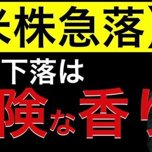 [株おすすめ]【米株急落】この下落は危険な香りがします!日本の影響を見ると週明け危険ゾーンで始まりそう?