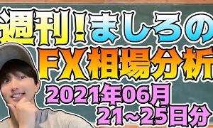 [FXおすすめ]【FX】週刊!ましろのFX相場分析!(2021/06/21~25分)