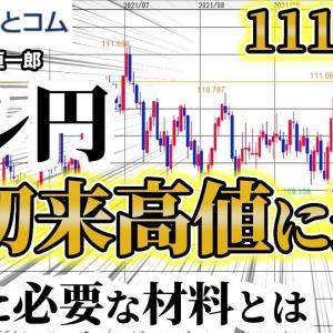 [FXおすすめ]FX予想「ドル/円 年初来高値に迫る!リスクオンの株高・円安が後押し」9月28日(火)雨夜恒一郎