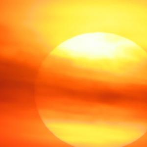 夕日。2021/07/30