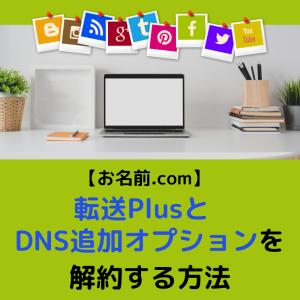 【最新:2020年7月】お名前.comの転送プラスとDNS追加オプションを解約する方法