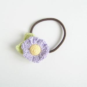 マーガレットのヘアゴム(紫)