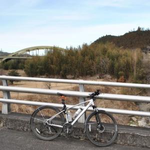 クロスバイクで常陸太田市上深荻町を走り抜ける