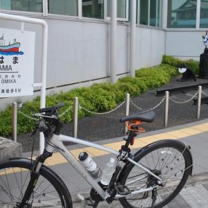 クロスバイクで久慈城跡や日立電鉄久慈浜駅に立ち寄ってみた