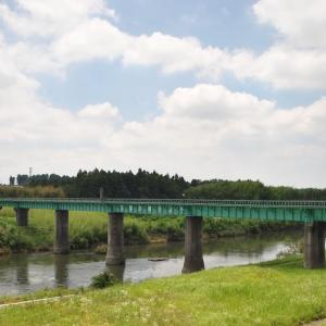 JR水郡線常陸太田支線の久慈川に架かる橋梁とか
