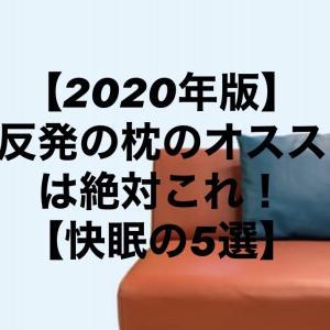 【2020年版】低反発の枕のオススメは絶対これ!【快眠の5選】
