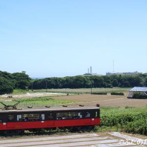 【銚子電鉄】800形801号車 犬吠埼灯台と太平洋
