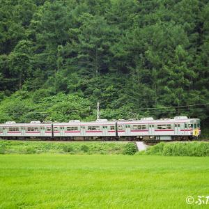 【長野電鉄木島線】3600系L3編成 クワガタ列車