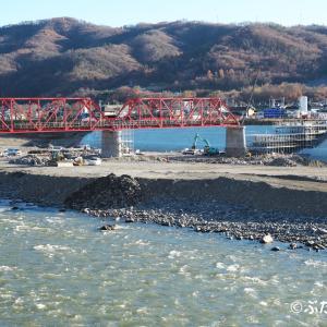 【上田電鉄別所線】6000系6001編成 トラス架橋準備