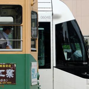 【富山LRT】7018号車・604号車 昭和と平成
