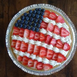 日常:独立記念日。国旗デザインのチーズケーキを作ってみた。