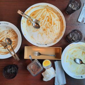 '21.5.22「CoCo壱番屋」男3人(僕と息子二人)でランチ!食べ盛りはエゲツない(笑)