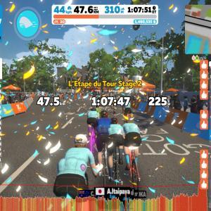 【Zwift】バーチャル レタップ・デュ・ツール・ド・フランス Stage2