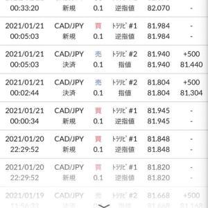 トラリピ100万円追加&2.3回目の決済