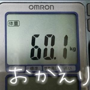 サヨナラからの一転、再びの60キロ。痩せるのって大変