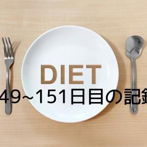 ダイエット完全休息の週末。149~151日目の記録