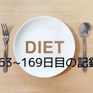 ダイエット163~169日目の記録