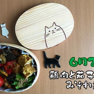 猫のわっぱ弁当ブログ60(鶏肉と茄子のみぞれ煮弁当)