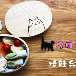 猫のわっぱ弁当ブログ80(焼鮭弁当)