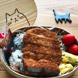 猫のわっぱ弁当ブログ112(とんかつ弁当)