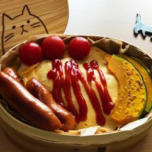 猫のわっぱ弁当ブログ119(オムライス弁当)