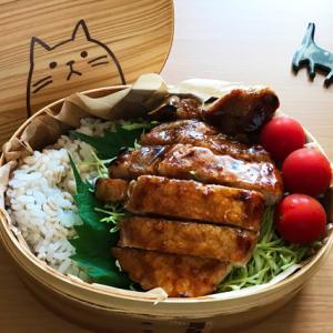 猫のわっぱ弁当ブログ121(トンテキ弁当)