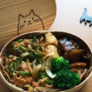 猫のわっぱ弁当ブログ138(豚肉と玉ねぎのオイスター丼弁当)