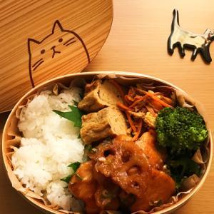 猫のわっぱ弁当ブログ154(鶏肉と蓮根の