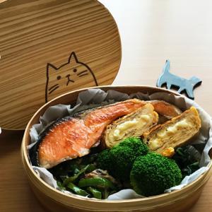 猫のわっぱ弁当ブログ220(焼鮭弁当)