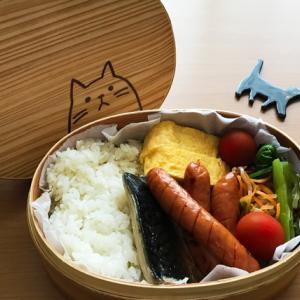 猫のわっぱ弁当ブログ228(焼き鯖弁当)
