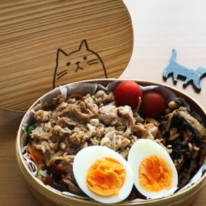 猫のわっぱ弁当ブログ229(ビビンバ弁当)