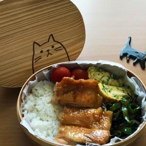 猫のわっぱ弁当ブログ233(鶏の照り焼き弁当)