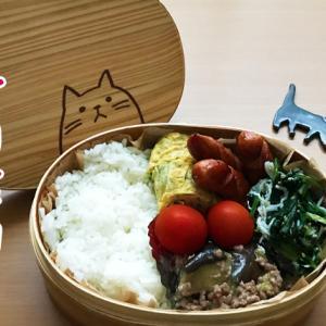 猫のわっぱ弁当ブログ236(麻婆茄子弁当)