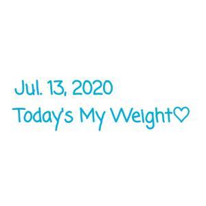 【7/13】本日の体重とニートごはん。