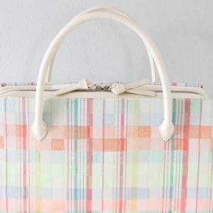 マルチカラー市松模様⁈の利休バッグ