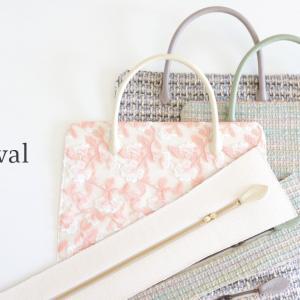 製作中の利休バッグ と 京の桃源郷 原谷苑の桜🌸
