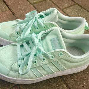 ( ´ー`)。о(adidasの靴が好き)