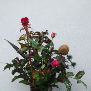 花ファッション秋冬トレンドカラー🍂2021年度は黒です●クーゲルを入れたフラワーデザイン(*^^*)