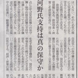 自民総裁選 櫻井よしこさんの意見