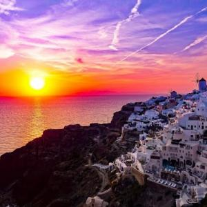 My dream is to go to Greece and watch the sun set over the Aegean Sea.