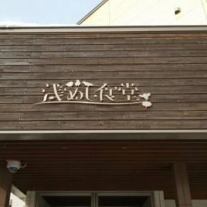 青森県青森市浅めし食堂のもち小麦入りりんごソースハンバーグ