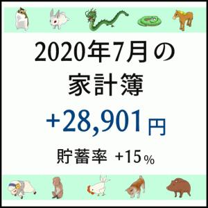 2020年7月の収支